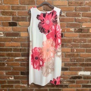 Calvin Klein Floral Sleeveless Sheath Dress 18W